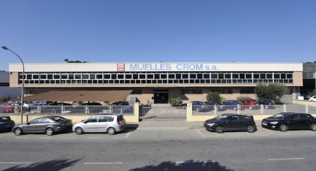Facade of the company Muelles Crom